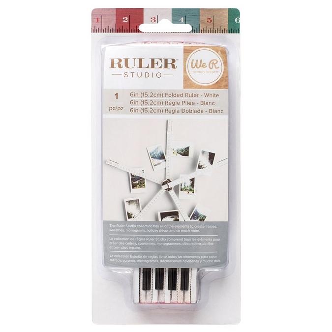 Règle pliée en bois Ruler Studio - 15,2 cm - Blanc