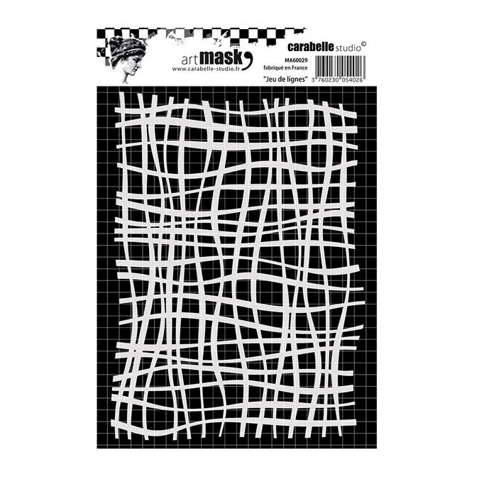 Pochoir Art Mask - A6 - Jeu de lignes