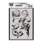 Pochoir Art template - A6 - Volutes
