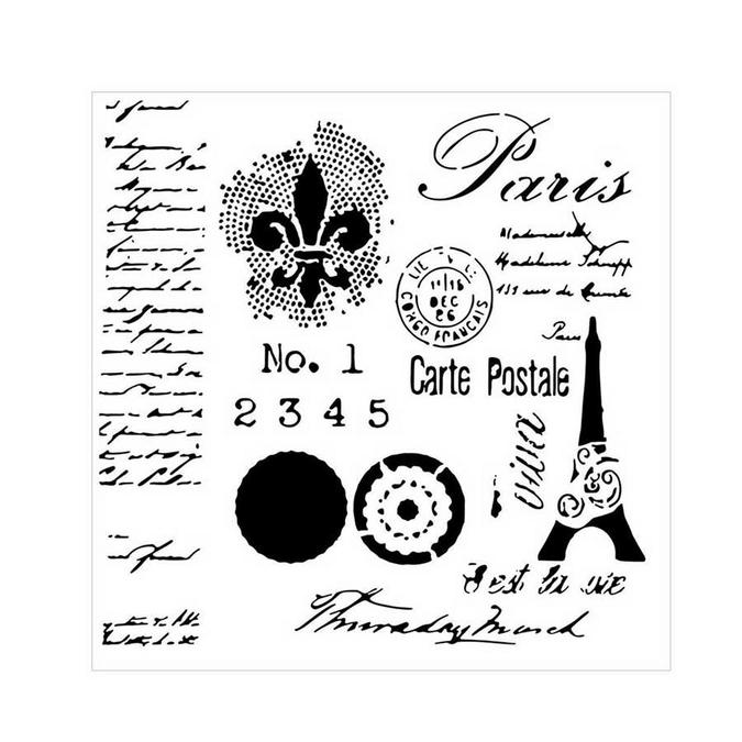 Pochoir souple - 15,2 cm - Carte Postale