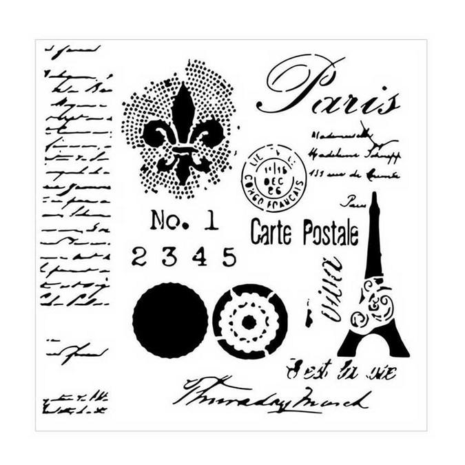 Pochoir souple - 30,5 cm - Carte Postale