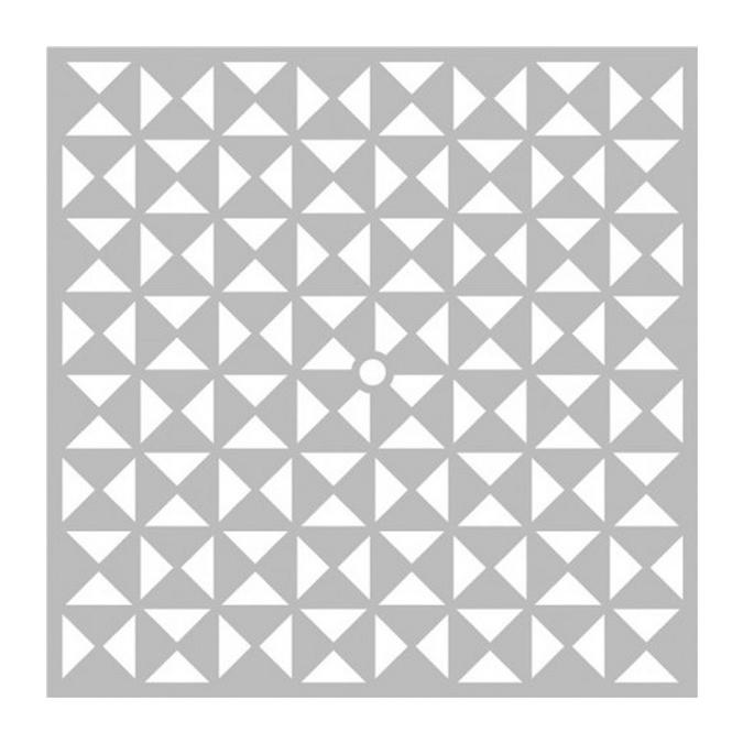 Pochoir Triangles pour Horloge 40 x 34 cm