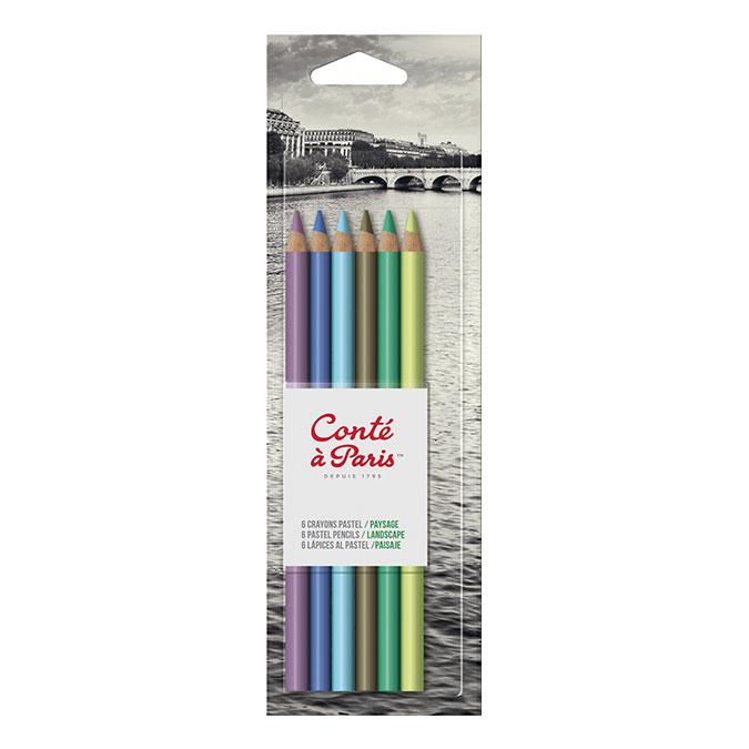 Crayon pastel Set Paysage x 6