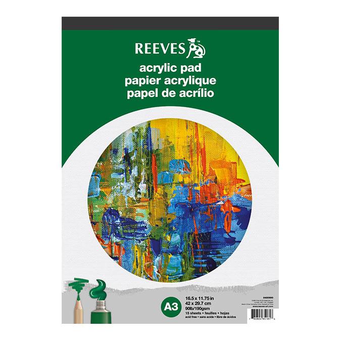 Bloc de papier Acrylique 190 g/m² 15 feuilles