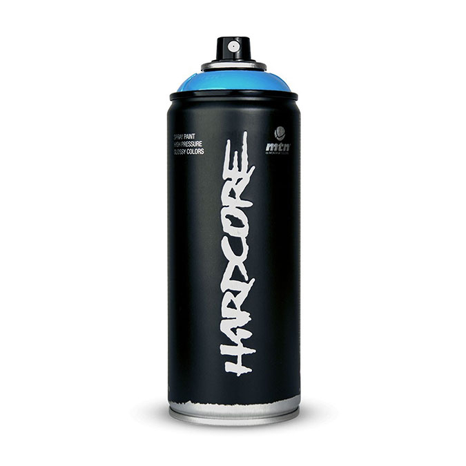 Peinture en spray Hardcore Haute pression 400 ml R-7040 Gris Perle 5 ***
