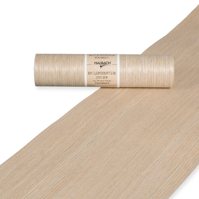 Placage bois sur Tissu 20 cm x 1,25 m