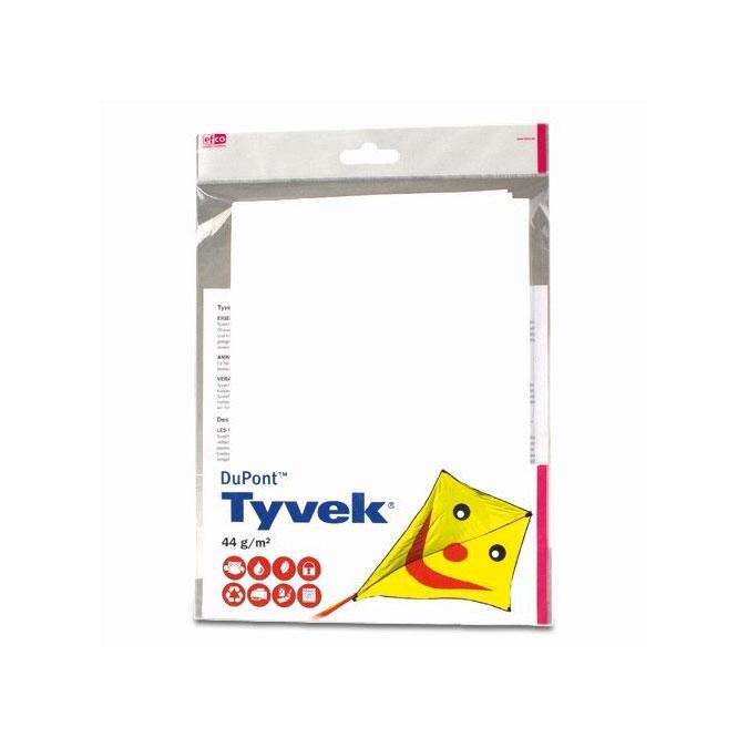 Tissu à cerf-volant Tyvek Blanc 70 x 100 cm 44 g/m²