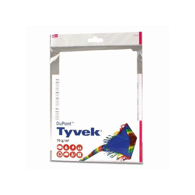 Tissu à cerf-volant Tyvek Blanc 70 x 100 cm 70 g/m²