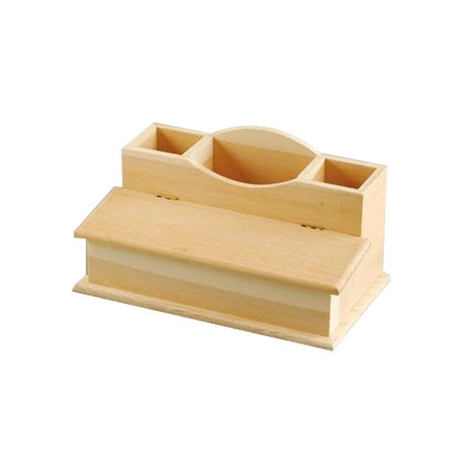 Plumier en bois 23 x 14 x 13 cm