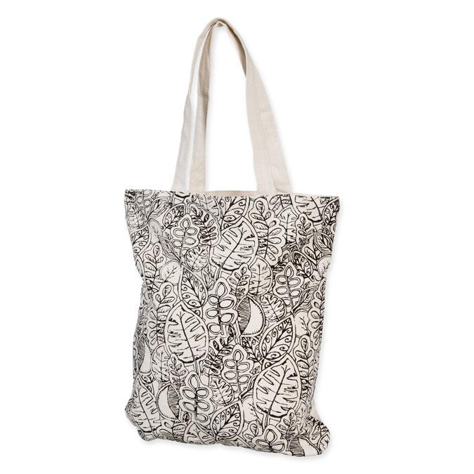 Sac en coton Tote Bag 35 x 40 cm Motif imprimé Feuilles