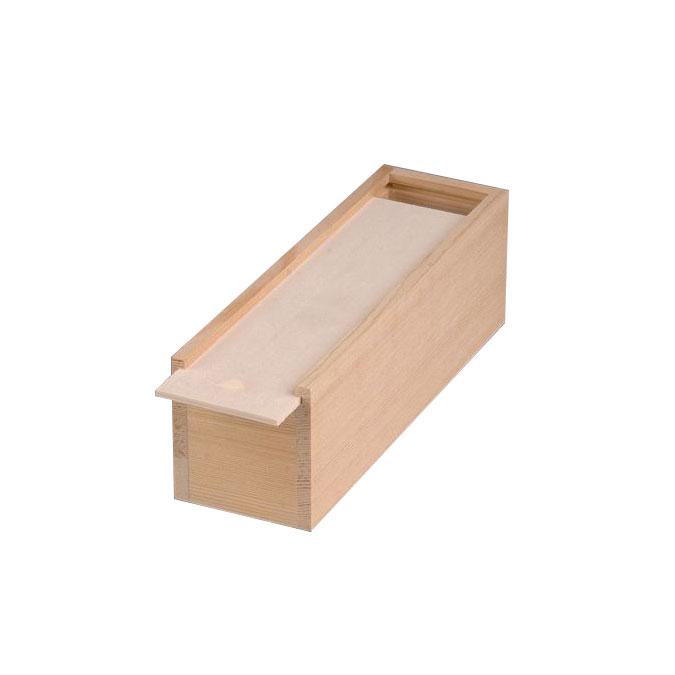 Coffret en bois couvercle coulissant 20,5 x 5 x 4,5 cm