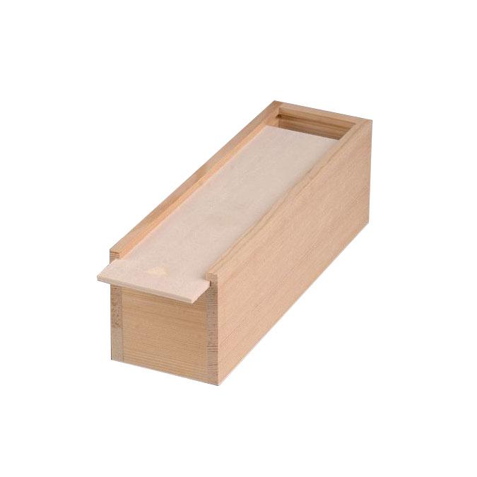 Coffret en bois couvercle coulissant 23 x 7 x 7,5 cm