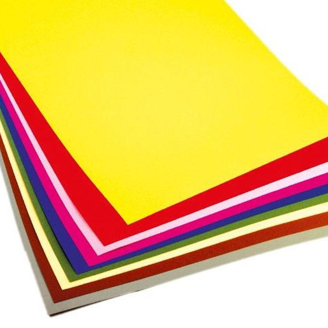Papier de couleur Assortiment 10 feuilles 50 x 70 cm 300 g/m²