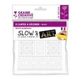 Pré-dessiné Slow & Art 5 Cartes Graphique blanc