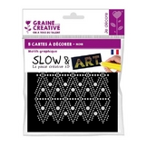 Pré-dessiné Slow & Art 5 Cartes Graphique noir