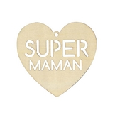 Suspension en bois Super Maman