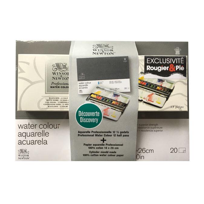 Aquarelle extra-fine Black Box + Bloc de papier 18 x 26 cm