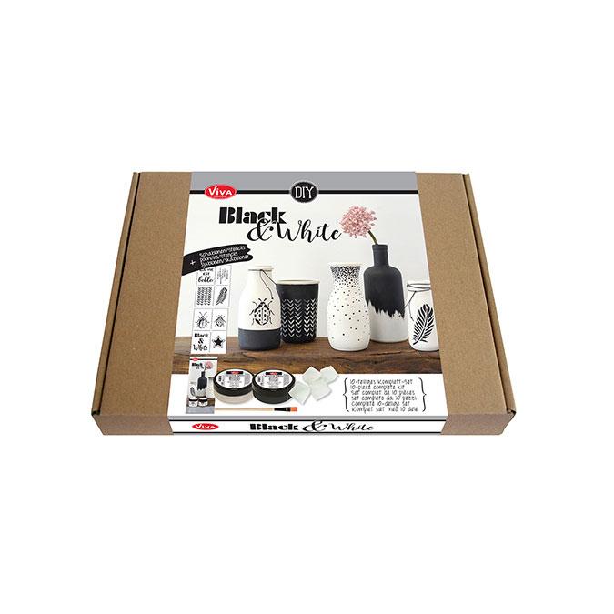 Peinture effet Céramique Kit Noir & Blanc