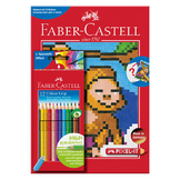 Album de coloriage Pixel-It + 12 crayons de couleur Colour Grip