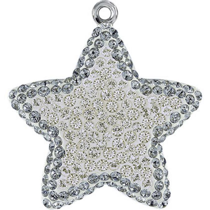Pendentif pavé étoile 67422 - 14 mm - Moonlight