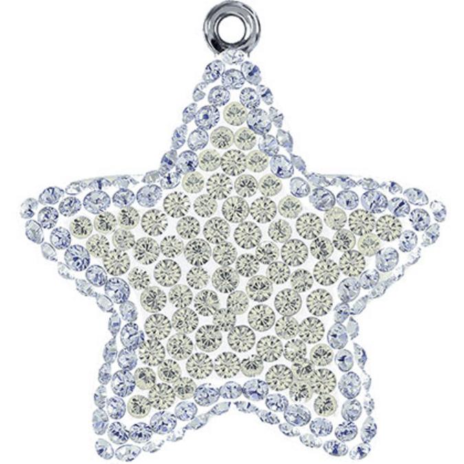 Pendentif pavé étoile 67422 - 14 mm - Silver