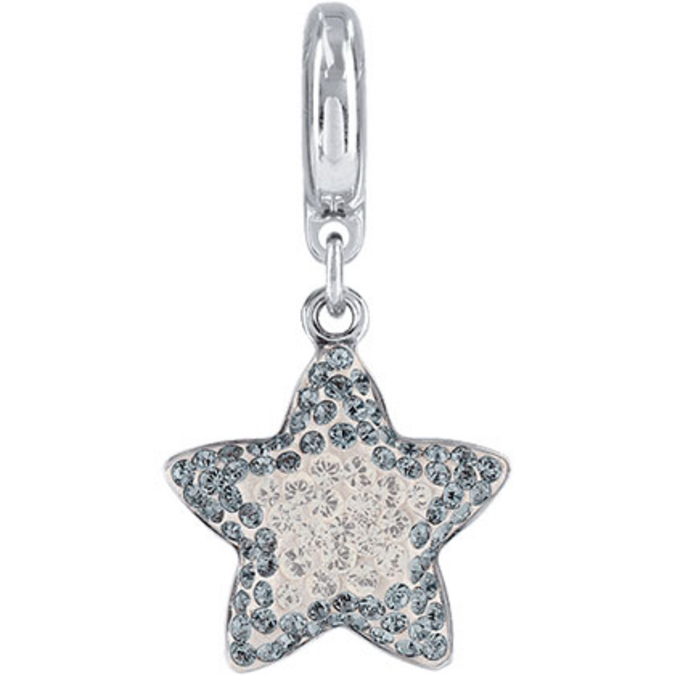 BeCharmed Pavé étoile 86512 - 14 mm - Silver Shade