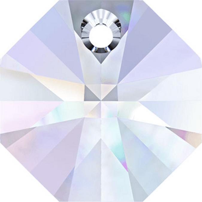 Pendentif octogonal 6401 - 12 mm - Crystal Aurore Boreale