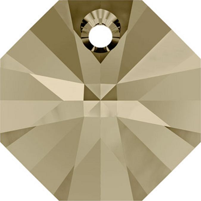 Pendentif octogonal 6401 - 12 mm - Crystal Golden Shadow