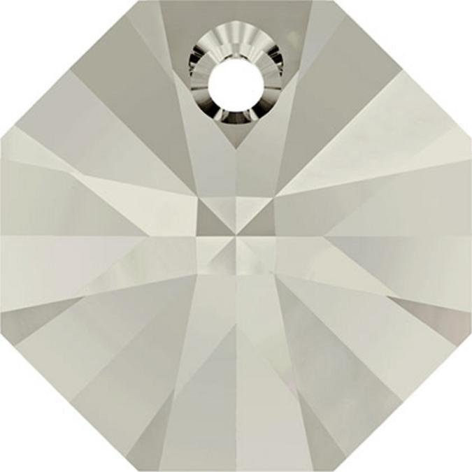 Pendentif octogonal 6401 - 12 mm - Crystal Silver Shade