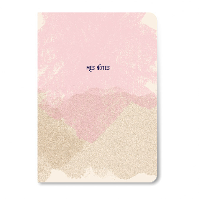 Carnet Mes notes 10 x 16 cm Rose