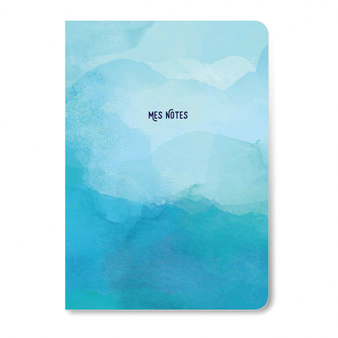 Carnet Mes notes 10 x 16 cm Bleu