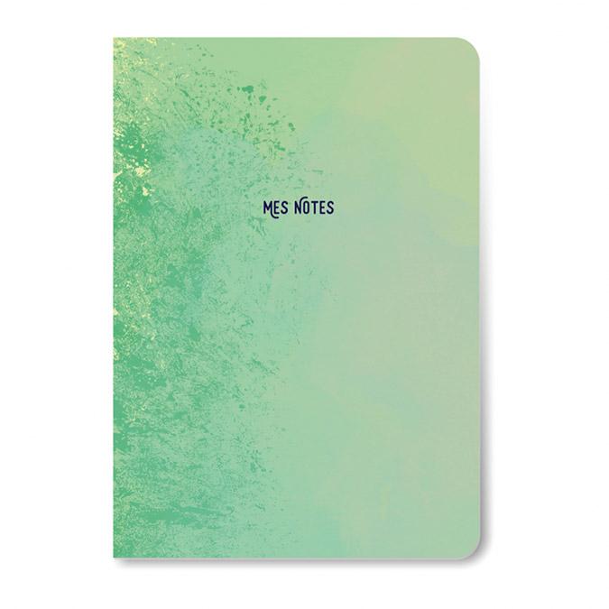 Carnet Mes notes 10 x 16 cm Vert