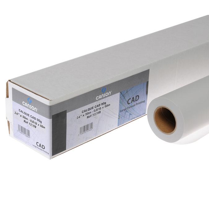 Papier calque CAD Rouleau 90/95 g/m²