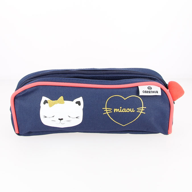 Trousse Chaton double 22 x 7,5 x 7 cm