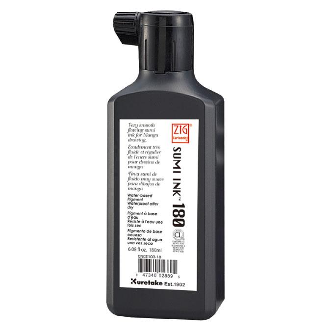 Encre japonaise Noire Sumi Ink 180 ml