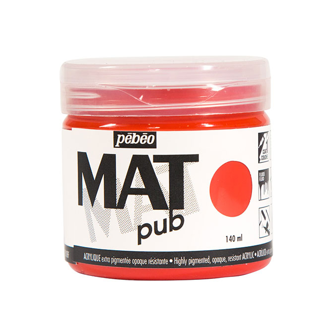 Peinture acrylique Mat Pub 140 ml 06 Rouge magenta *** O