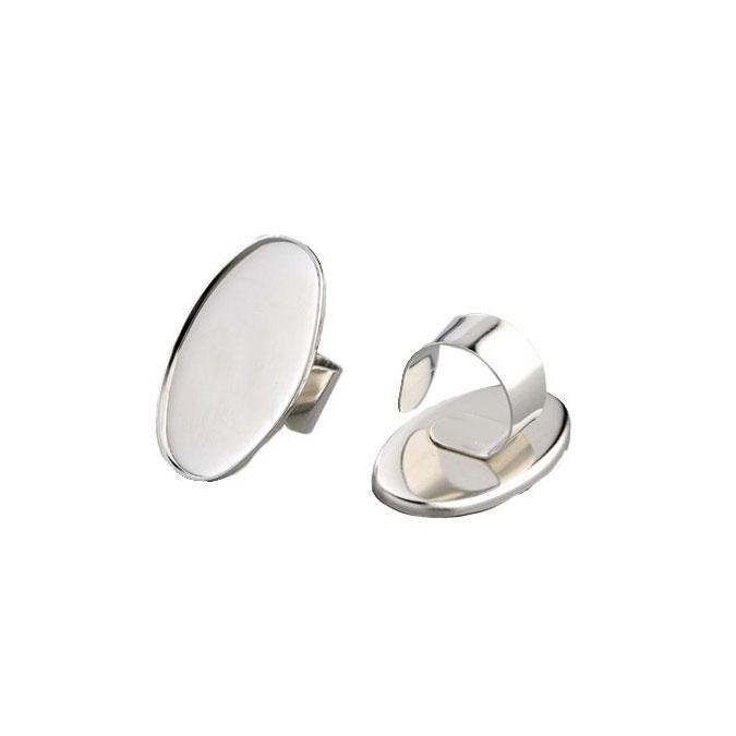 Bague ovale avec rebord 25 x 40 mm