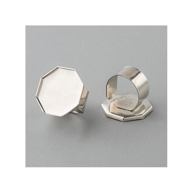Bague octogonale avec rebord Ø 25 mm