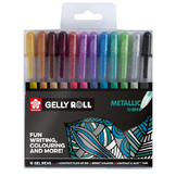 Stylo gel Gelly Roll 12 couleurs Set Metallic