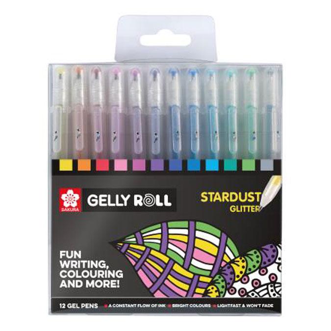 Stylo gel Gelly Roll 12 couleurs Set Stardust