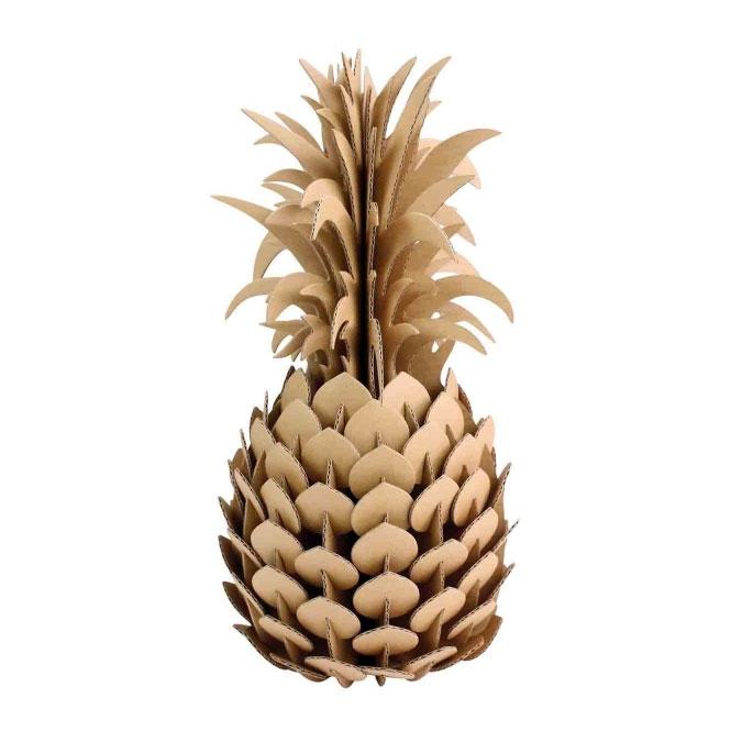 Ananas en carton 14 x 28 cm