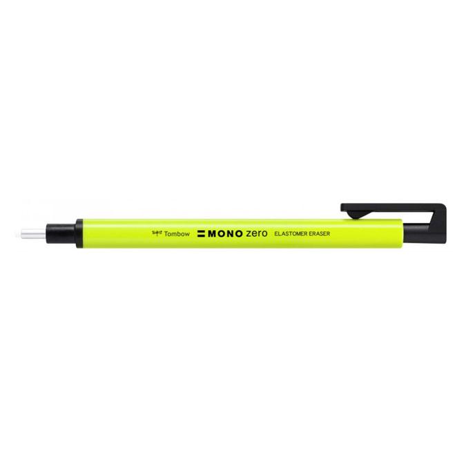 Porte-gomme Mono Zero jaune fluo pointe ronde