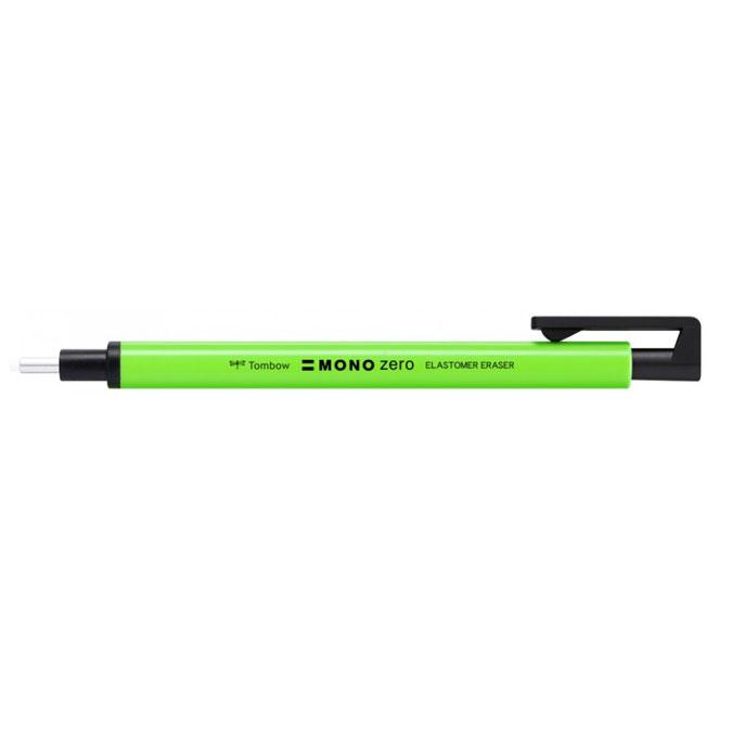 Porte-gomme Mono Zero vert fluo pointe ronde