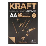 Bloc de papier Kraft Double Face marron et noir 90 g/m²
