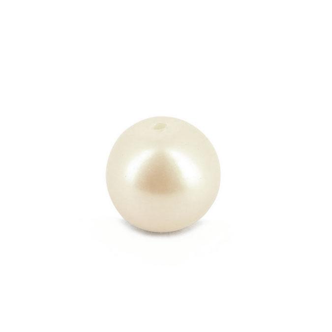 Perle en résine ronde nacrée blanche - 7,5 mm