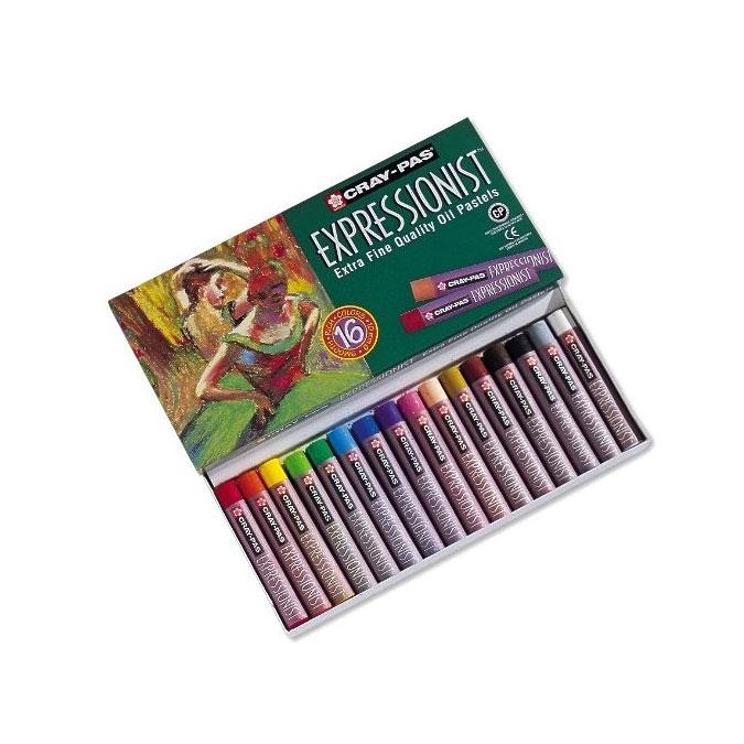 Boîte de 16 pastels à l'huile Expressionist