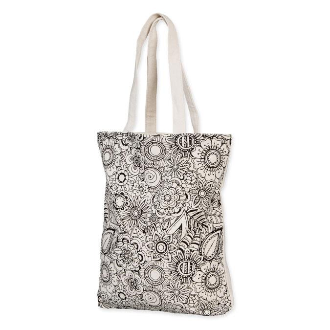 Sac en coton Tote Bag 35 x 40 cm Motif imprimé Fleurs