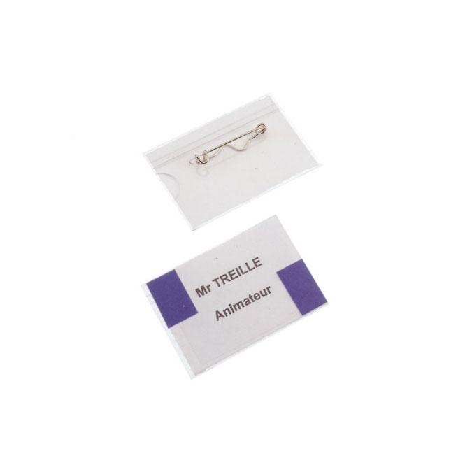 Badge porte étiquette 40 x 60 mm