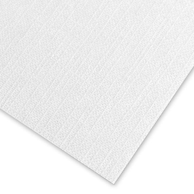 Contrecollé Concerto grain toilé blanc 1.5mm 80 x 120cm 111K - Blanc