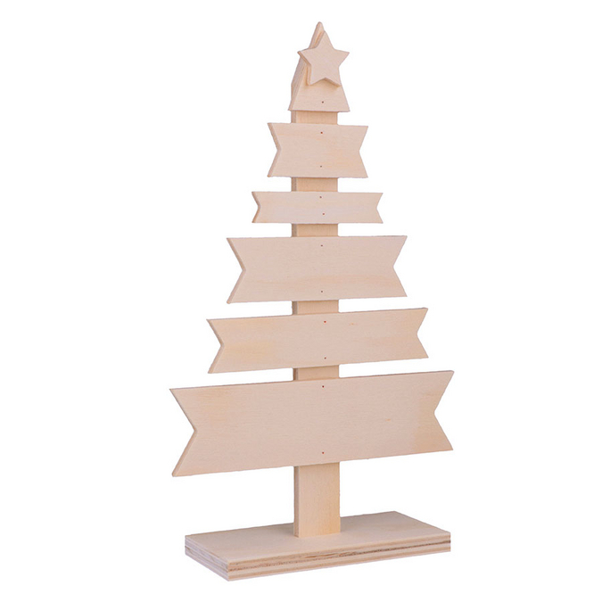 Décoration de noël Sapin en bois 14,5 x 5,5 x 24,5 cm